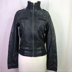 Xhilaration target dark faux leather jacket